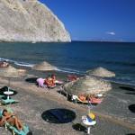 Perissa en Santorini (Grecia)