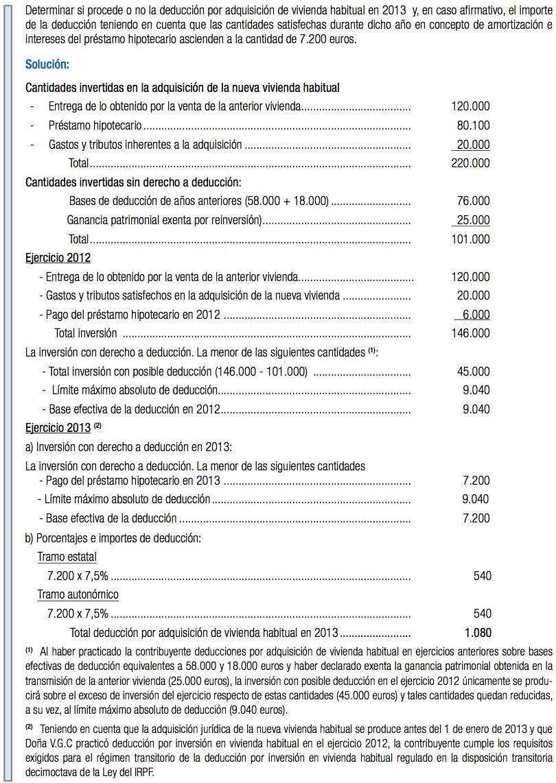 Renta 2013 - Deducción por compra de Vivienda Habitual