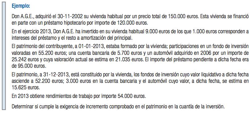 Renta 2013 - Inversión en Vivienda Habitual