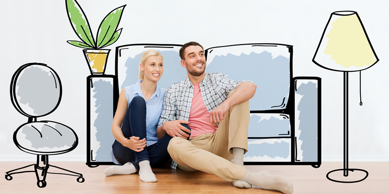 pareja en casa con hipoteca